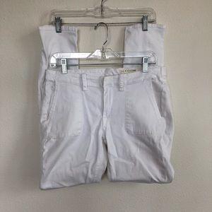 Rag and bone white stretch denim jeans 28